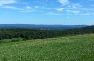 I am on a ridge, which is probably the most scenic towards the end of the day.  The town of Deerfield, MA is down in the valley and is the finish point.  I am about 1/2 mile from the final rest stop before another grueling 7-10 mile to the finish.