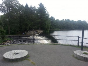This is the South Natick Dam.  A scenic spot.  This was taken, on August 30, 2013.  Where has the summer gone?